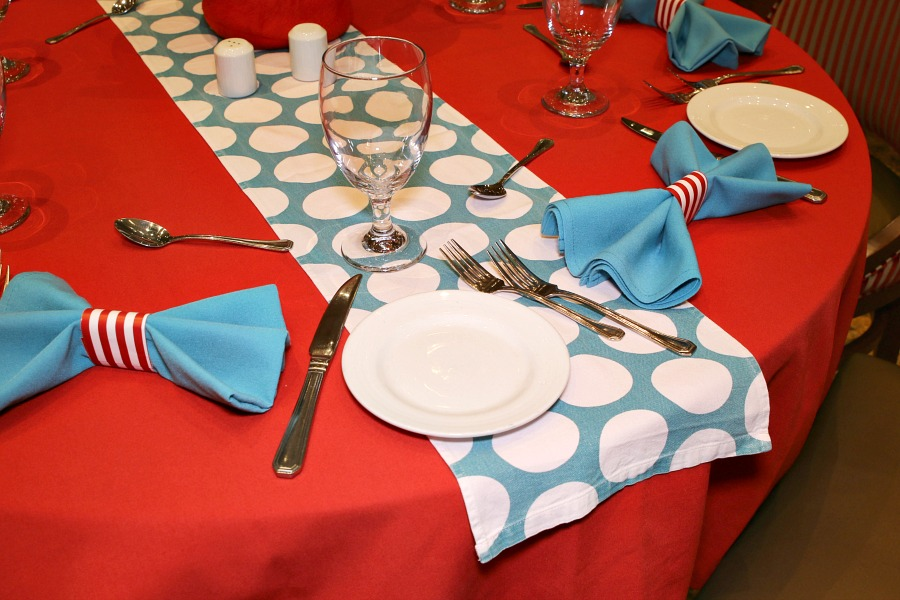 Dr. Seuss Table Decor