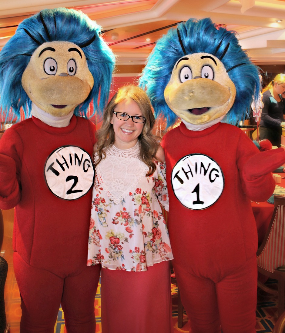 Dwan with Thing 1 and Thing 2